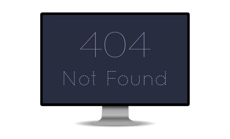 404 エラー
